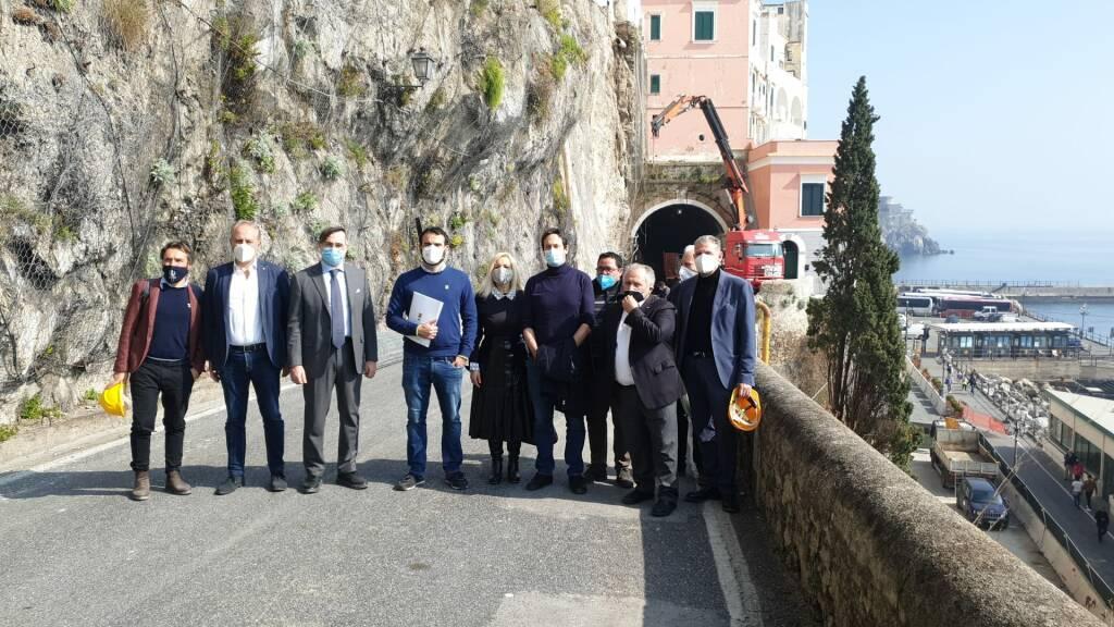 Sopralluogo della senatrice Baudino (M5S) ad Amalfi e Praiano