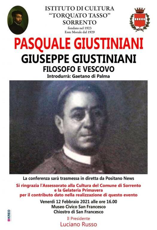 Sorrento, conferenza sul filosofo e vescovo Giuseppe Giustiniani