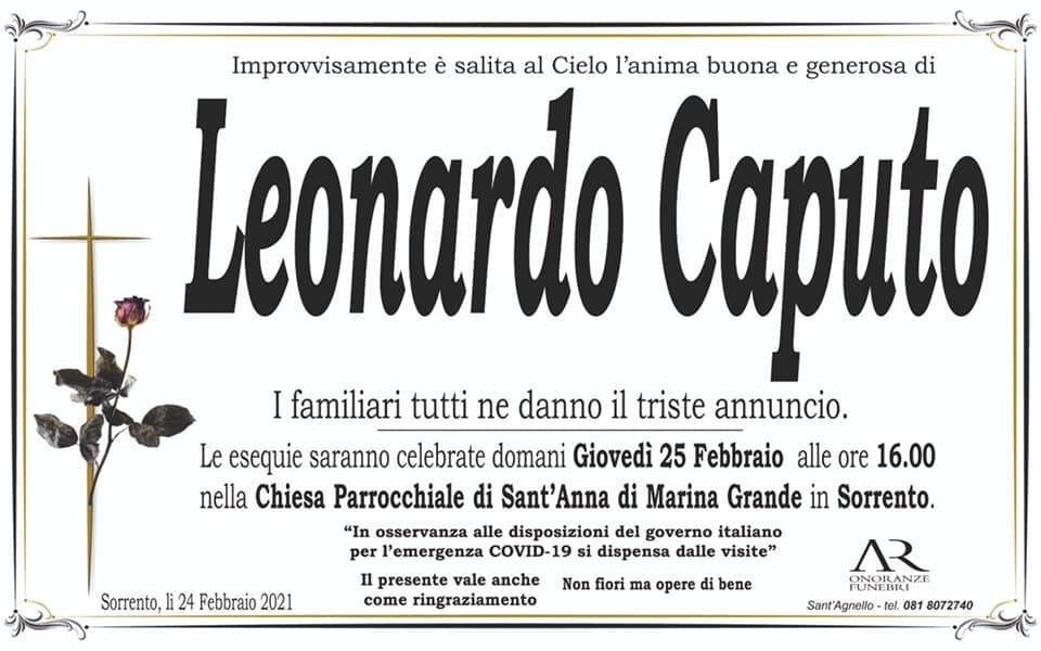 Sorrento piange l'improvvisa scomparsa di Leonardo Caputo