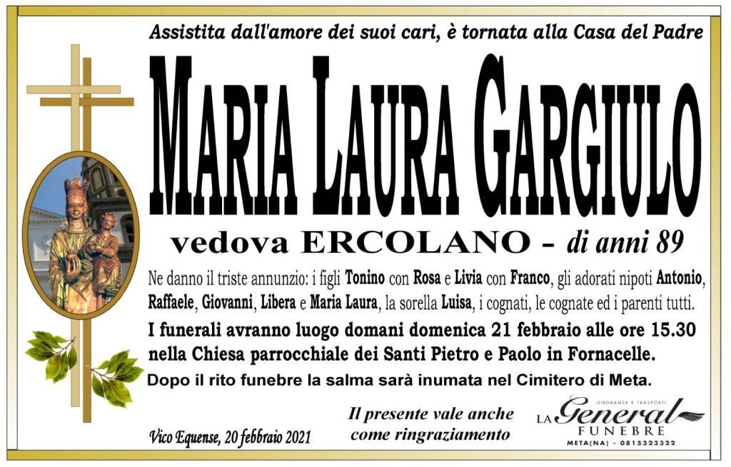 Vico Equense, addio all'89 enne Maria Lauro Gargiulo, vedova Ercolano