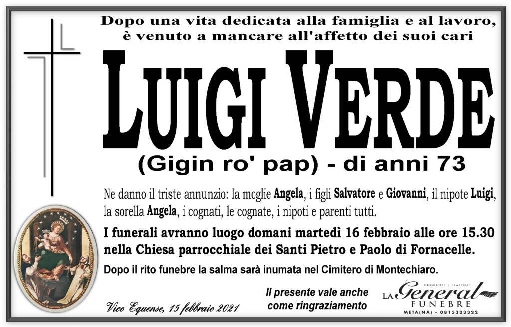 Vico Equense, ci lascia Luigi Verde, detto Gigin ro' pap. Aveva 73 anni