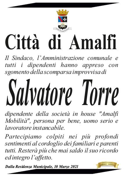 Amalfi. Il cordoglio del sindaco Daniele Milano per Salvatore Torre