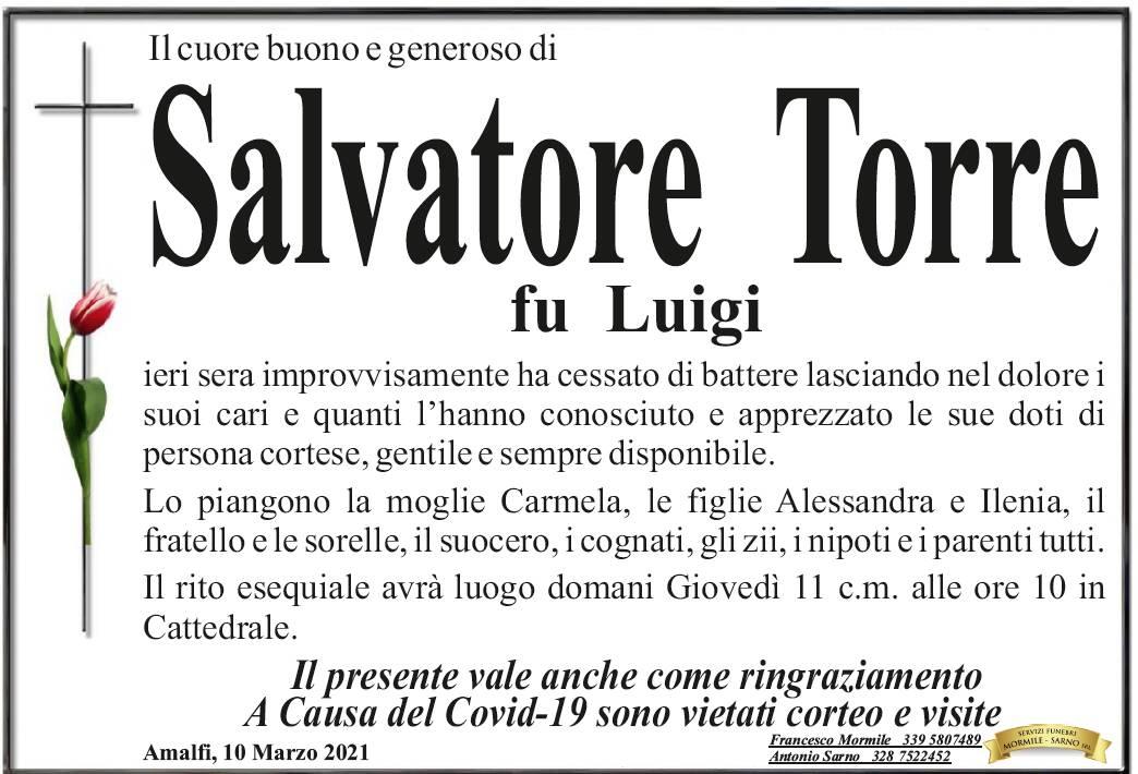 Amalfi in lutto per la scomparsa di Salvatore Torre, domani i funerali