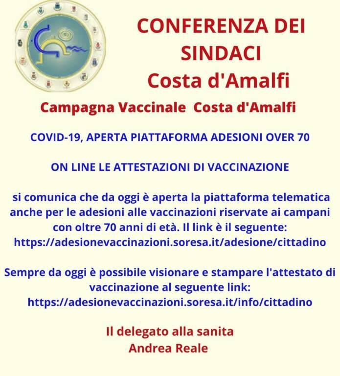 Campania, vaccini anti-covid over 70: aperta la piattaforma online