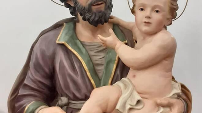 Arciconfraternita della SS. Concezione di Cava de' Tirreni, Nuova statua di  S. GIUSEPPE SPOSO DI MARIA SS.