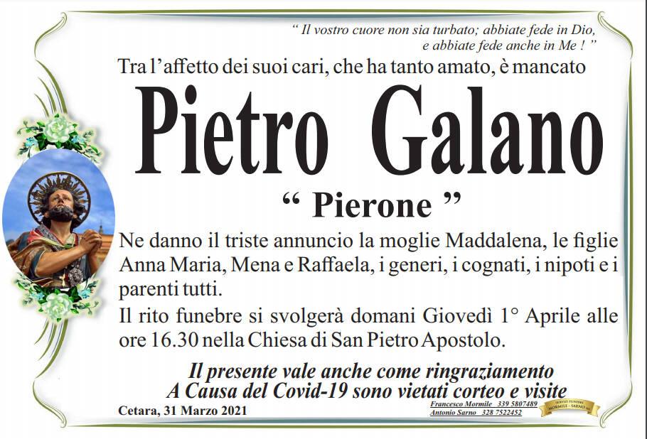 """Cetara piange la scomparsa di Pietro Galano (""""Pierone"""")"""