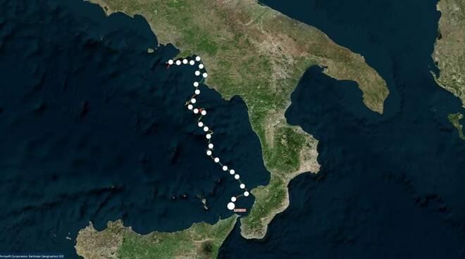 Da Punta Campanella alla Sicilia, il viaggio della tartaruga Eleonora. 520 km in 18 giorni