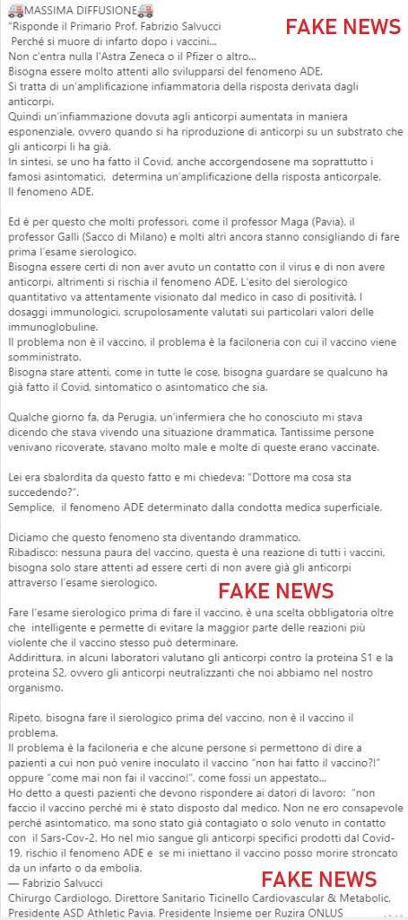 fake news vaccino