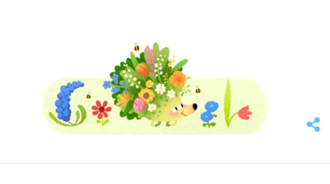 Il Doodle di Google di oggi dà il benvenuto alla primavera!