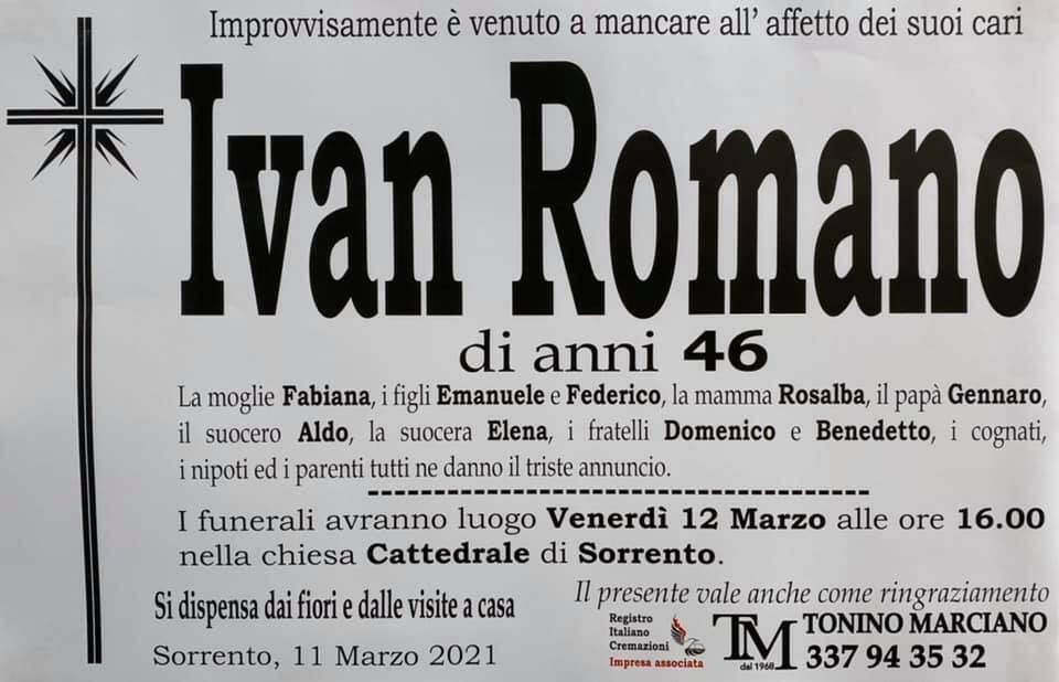 ivan romano manifesto funebre