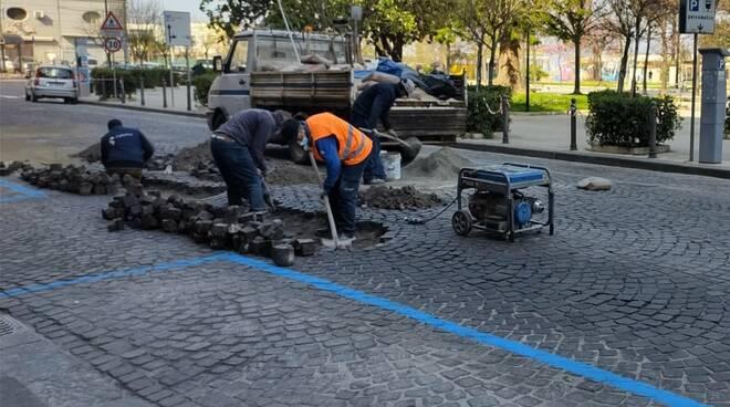 Lavori in corso a Castellammare di Stabia: 10 nuovi attraversamenti pedonali