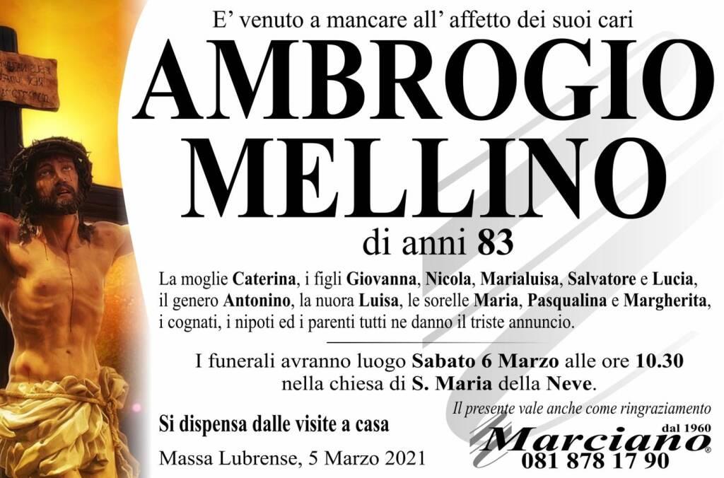 Massa Lubrense, ci lascia Ambrogio Mellino. Aveva 83 anni
