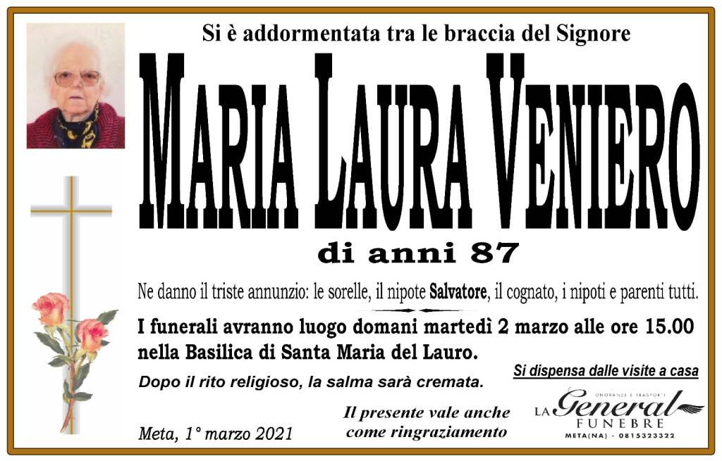 Meta piange Maria Laura Veniero: all'età di 87 anni si è addormentata tra le braccia del Signore