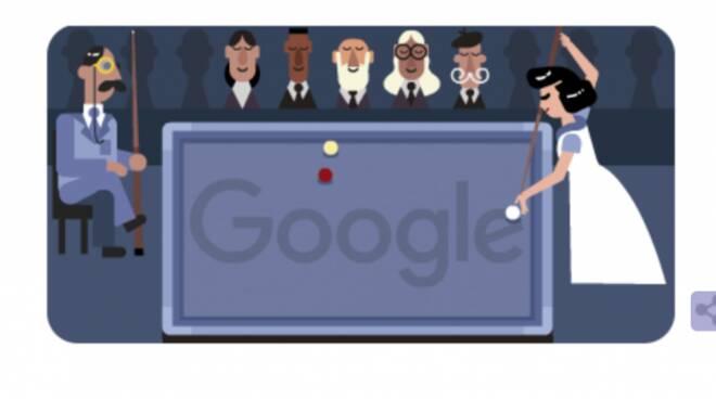 Oggi il Google di Doodle celebra Masako Katsura, la regina del biliardo
