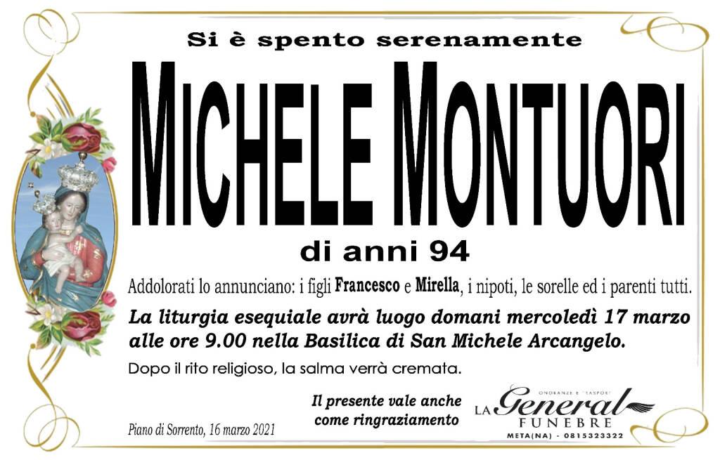 Piano di Sorrento: si è spento serenamente Michele Montuori, di anni 94