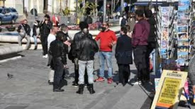Portesta dei Fieristi a Sanremo