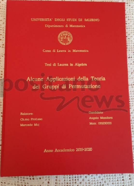 Positano: Angelo Mandara è dottore in Matematica!