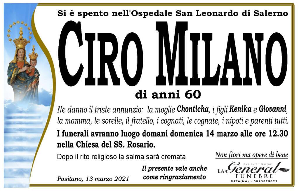 Positano in lutto per la perdita di Ciro Milano, cuoco del ristorante Mediterraneo