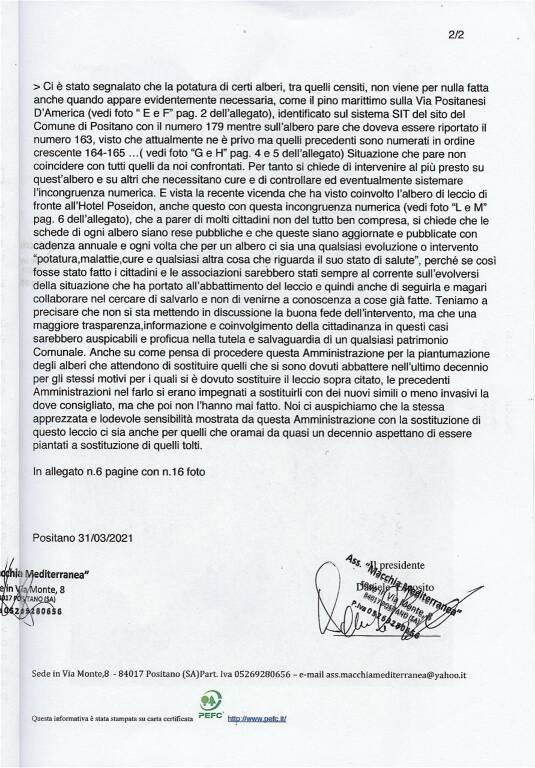 Positano, l'Associazione Macchia Mediterranea segnala alcune problematiche in città
