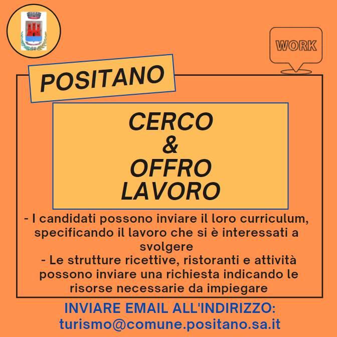 Positano, nuove richieste per il progetto Cerco & Offro Lavoro