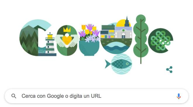 Saint Patrick's Day protagonista del Doodle di Google di oggi
