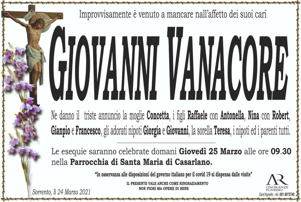 Sorrento piange l'improvvisa scomparsa di Giovanni Vanacore