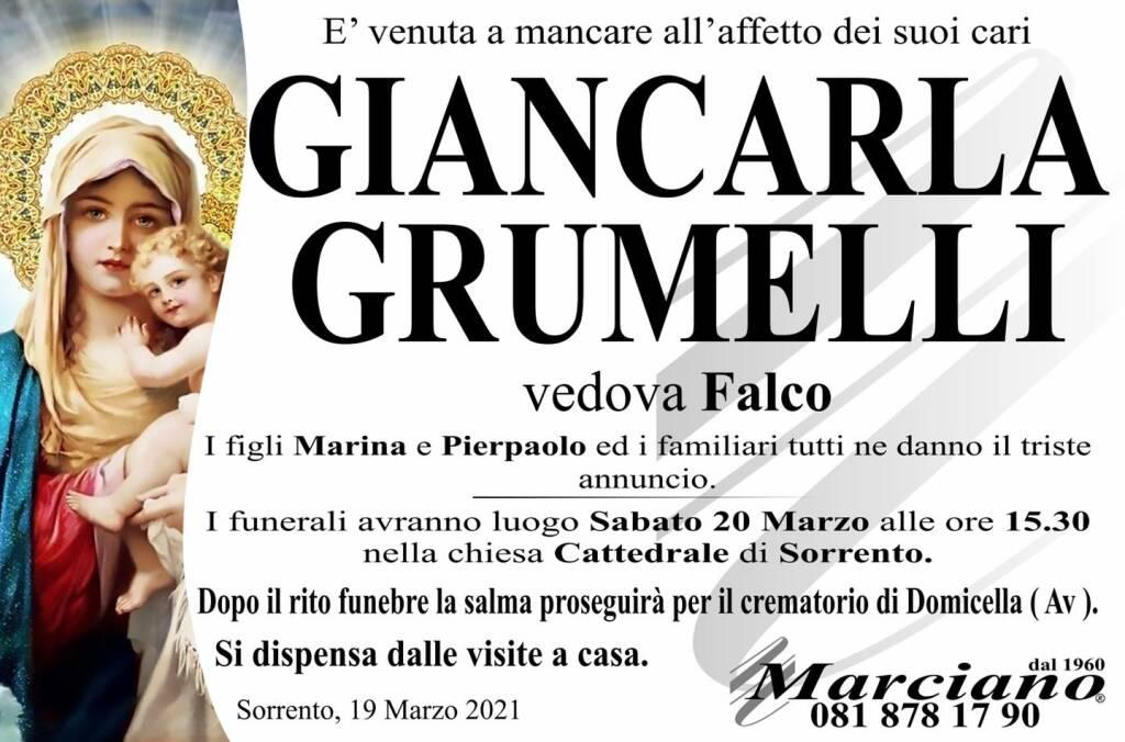 Sorrento piange la scomparsa di Giancarla Grumelli, vedova Falco