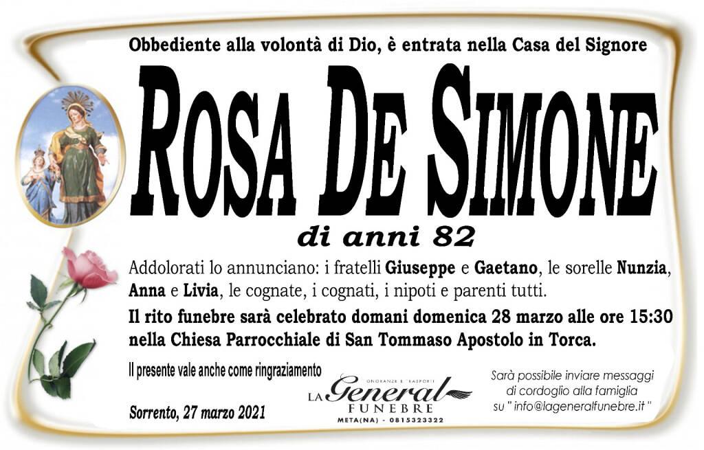 Sorrento piange la scomparsa di Rosa De Simone