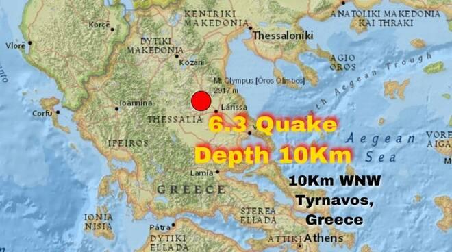 Terremoto in Grecia a nord di Atenei