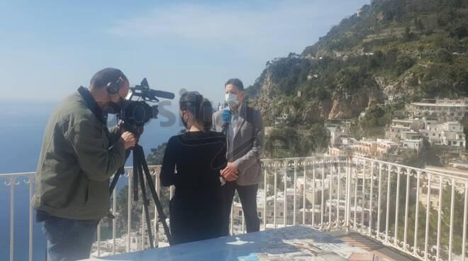 Tv spagnola a Positano