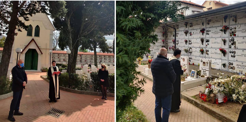 Agerola, piantato un leccio dinanzi al Cimitero per onorare le vittime della pandemia