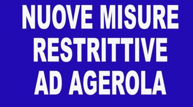 Agerola, riepilogo misure restrittive fino a venerdì 9 aprile!