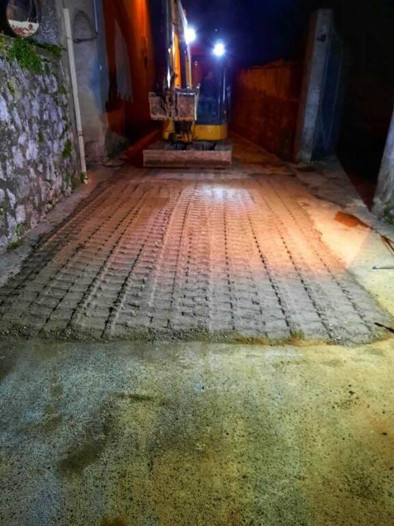 Agerola, ripristinata la circolazione su via M.R.Florio dopo il cedimento del manto stradale