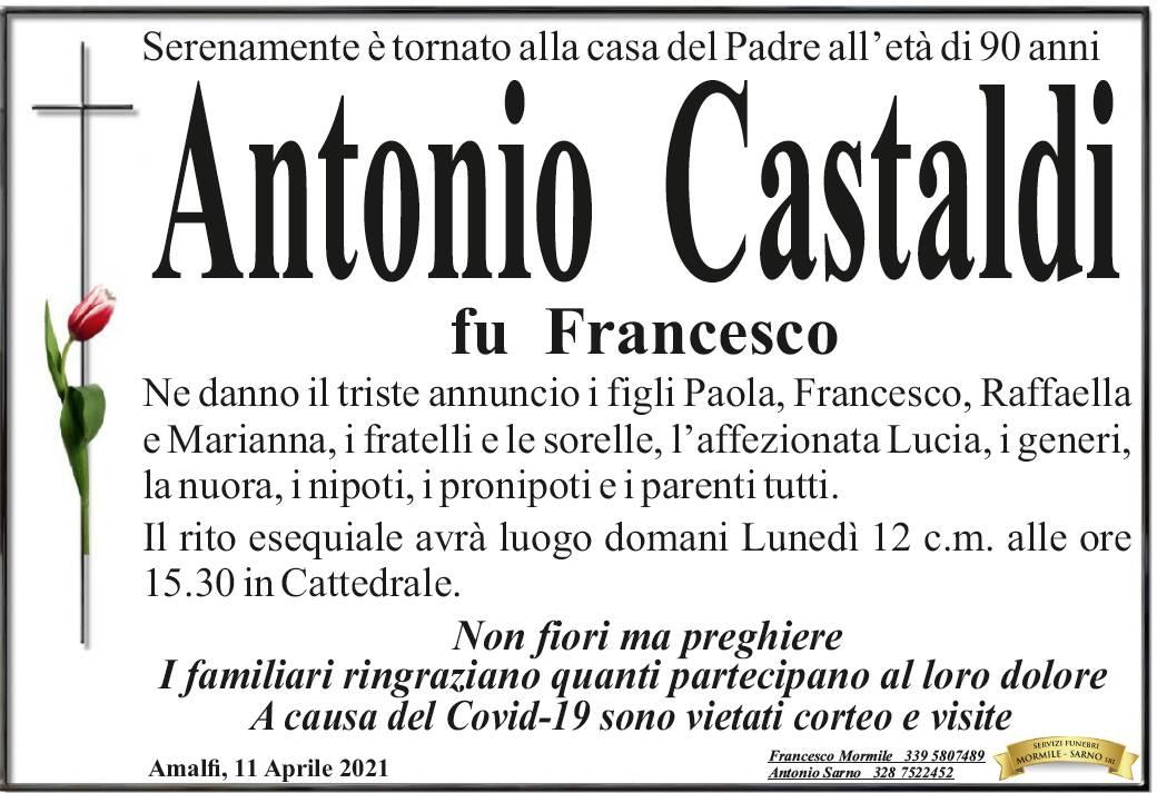 Amalfi, all'età di 90 anni Antonio Castaldi è tornato alla Casa del Padre
