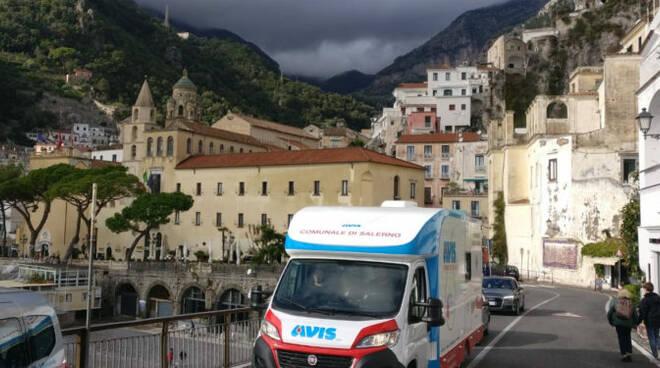 Amalfi, sabato 17 aprile 2021 dono del sangue in piazza Municipio