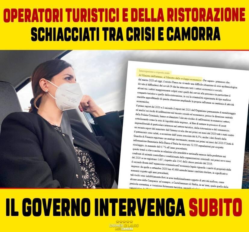 Appello crisi turismo  Camen Di Lauro