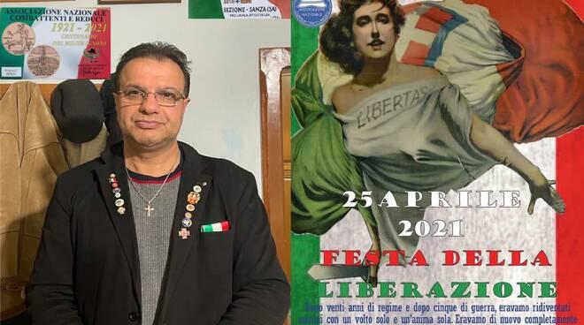 Comune di Sanza: lettera aperta e ricordo patriottico del Presidente A.N.C.R. Cav. N. H. Attilio De Lisa sul 25 aprile giorno Festa della Liberazione dell'Italia.