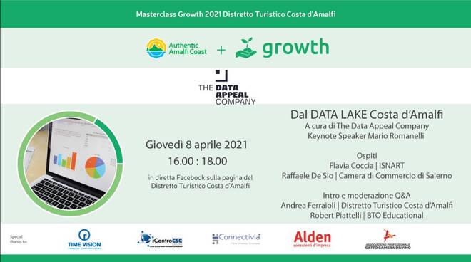 Distretto Turistico Costa d'Amalfi: giovedì 8 aprile in diretta dal Data Lake