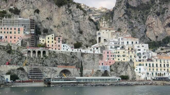 Frana ad Amalfi, avviso esplorativo per affidamento lavori di ripristino mobilità delle strade S.S. 163 e via Annunziatella