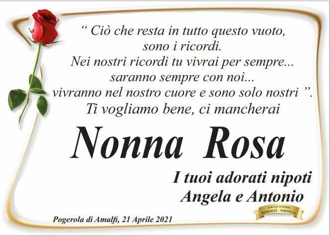 Il ricordo dei nipoti di Nonna Rosa