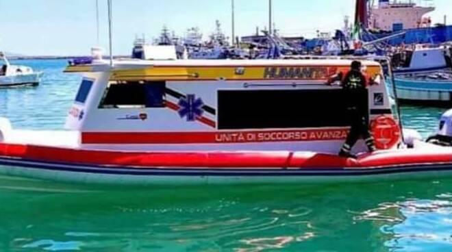 L'ambulanza del mare di rianimazione in Costiera Amalfitana