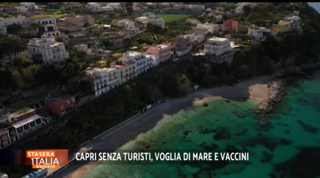 Le telecamere di Rete 4 a Capri per documentare la voglia di ripartenza