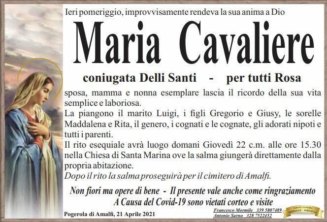 Lutto Maria Cavaliere