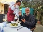 Massa Lubrense: l'attore Patrizio Rispo a pranzo al ristorante 'Lo Stuzzichino' di Sant'Agata