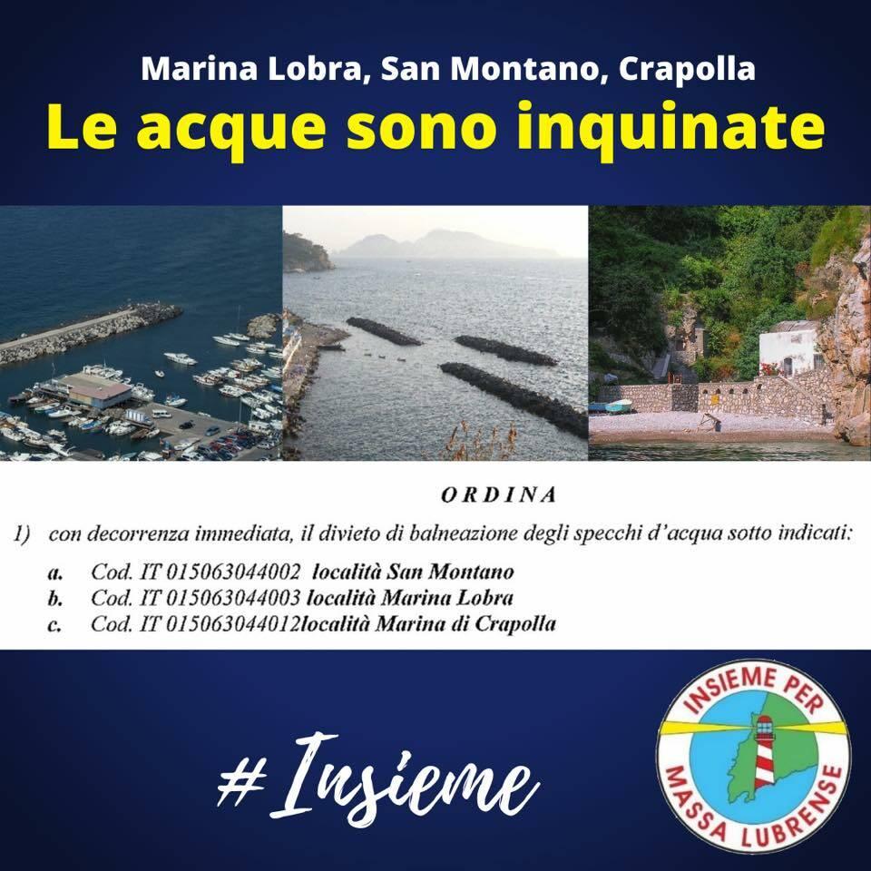 Massa Lubrense: Marina Lobra, Crapolla e San Montano dichiarate non balneabili