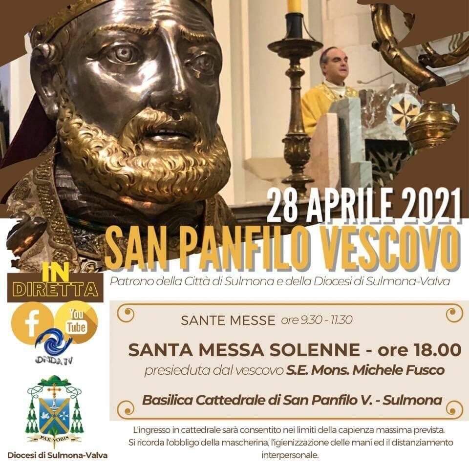 Oggi a Sulmona i festeggiamenti in onore di San Panfilo