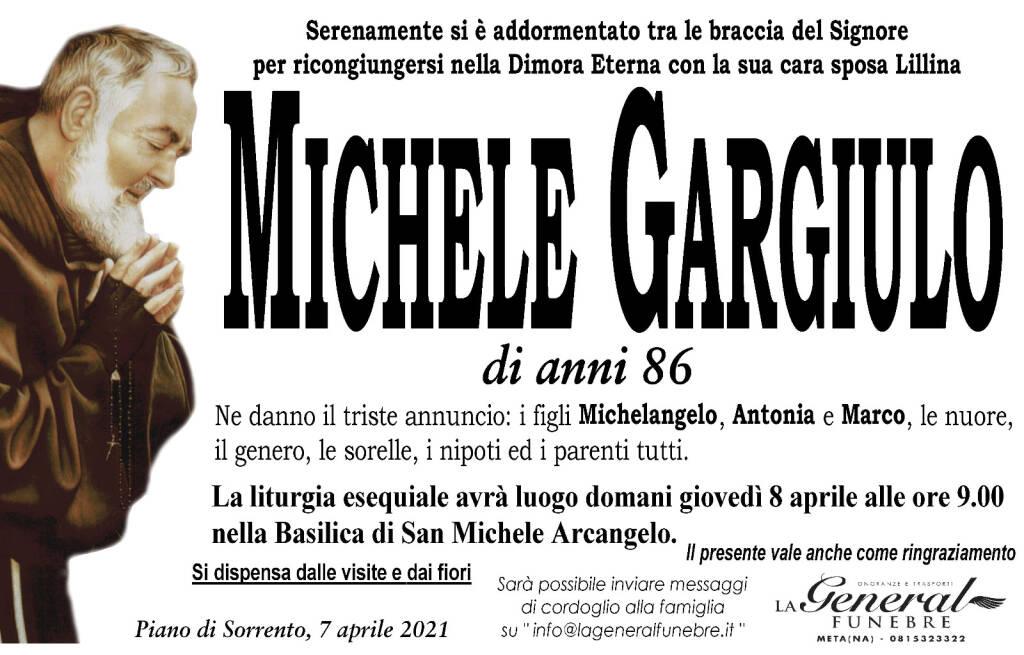 Piano di Sorrento, all'età di 86 anni si è serenamente spento Michele Gargiulo