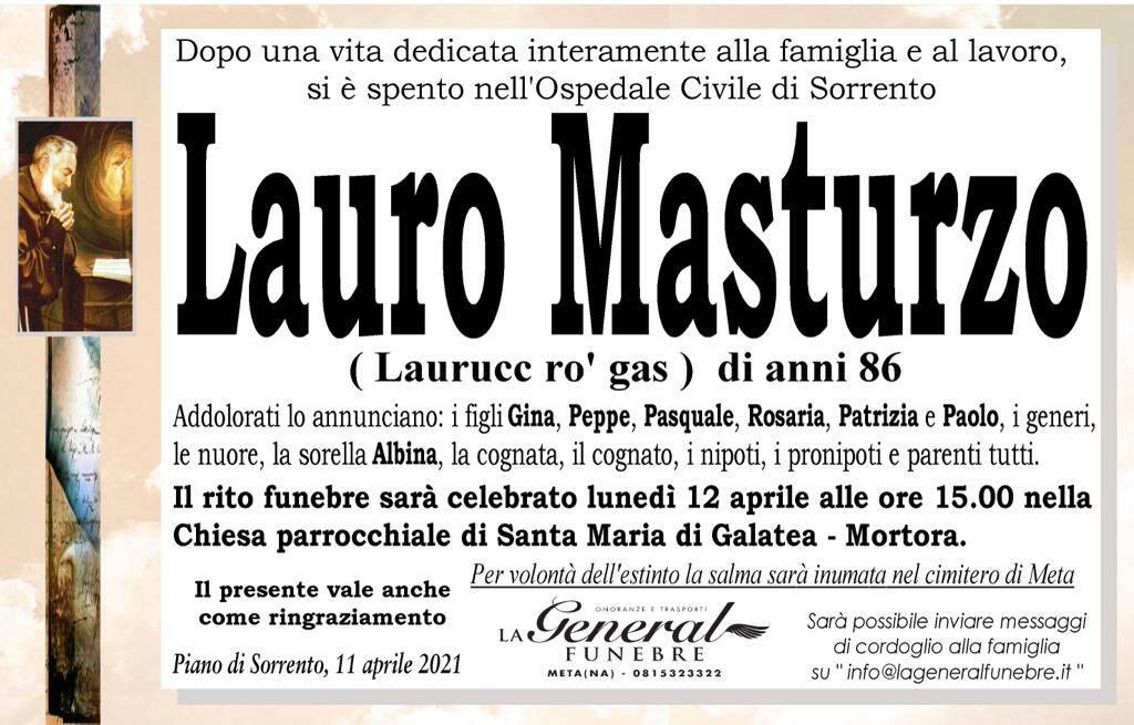 Piano di Sorrento piange la perdita di Lauro Masturzo (Laurucc ro' gas)