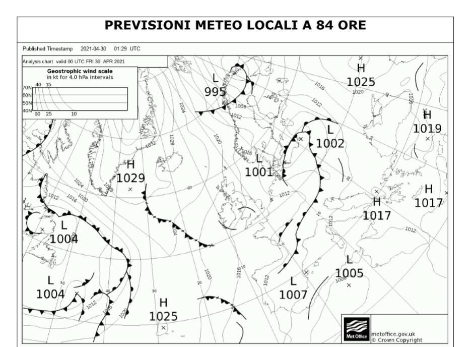 Piano, previsioni meteo locali a 84 ore