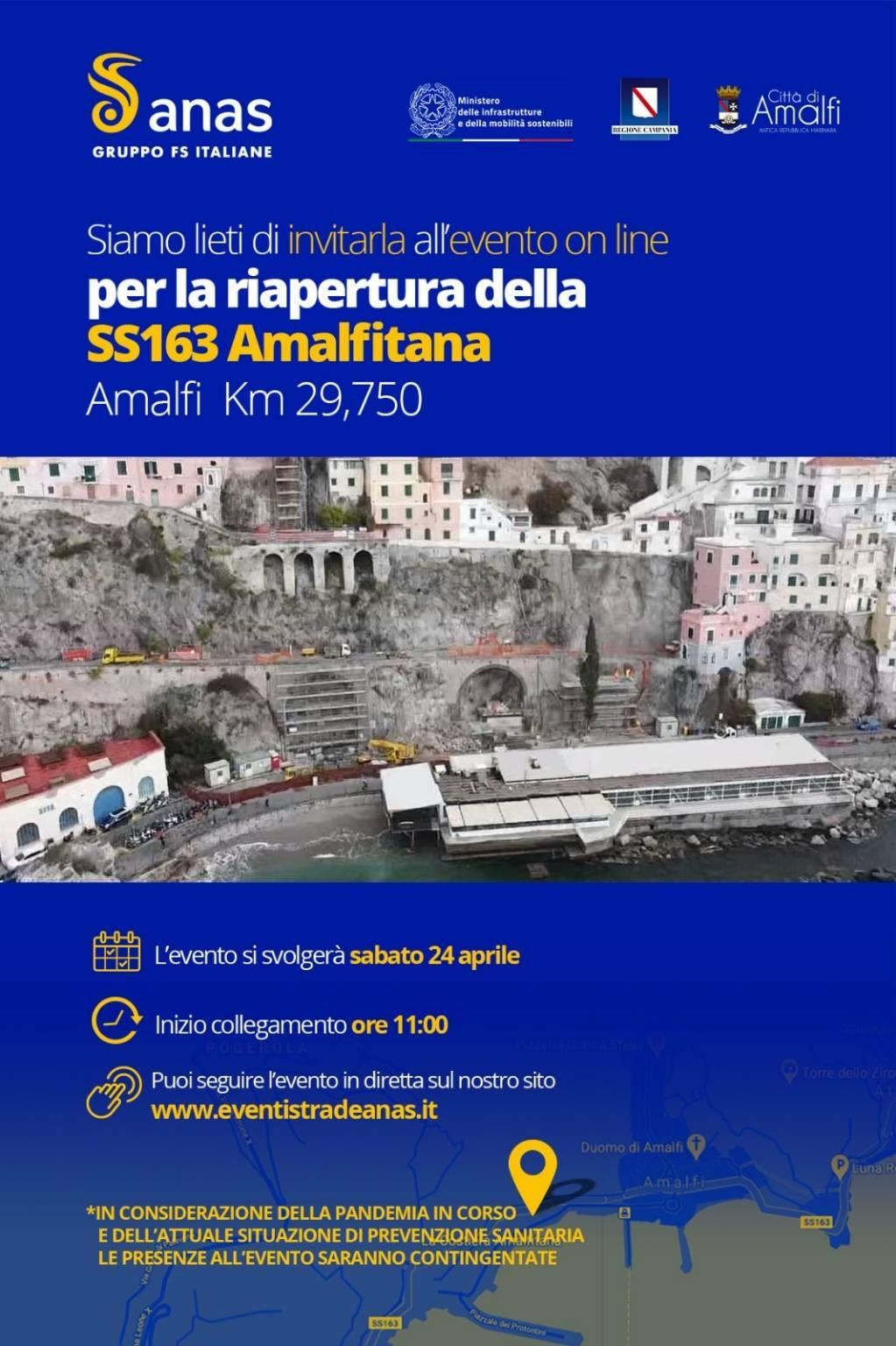 riapertura statale amalfi